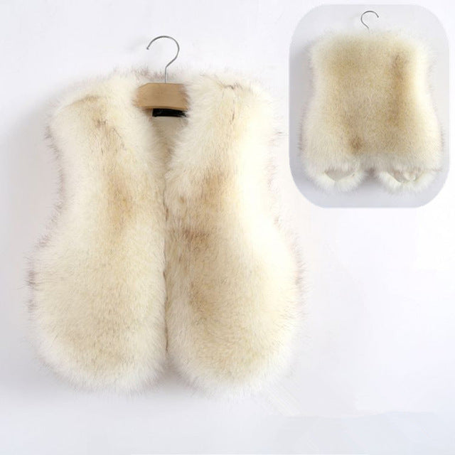 Faux Fur Vest - Cream