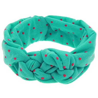 Knotted Headband - Green