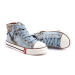 Boys Denim Boots - Light Blue
