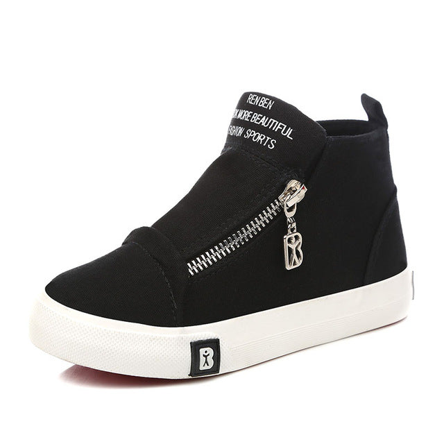Canvas Skater Boot - Black