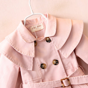 Waisted Trenchcoat - Pink