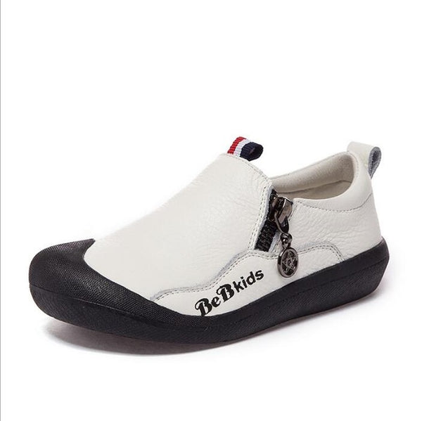 Boys Casual Leather Shoe - White