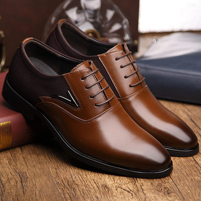 Luxury Brand Men Shoes,  an England Trend Breathable leather shoe. - Glosence