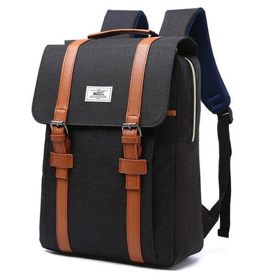 Canvas Style Backpack For School - Glosence