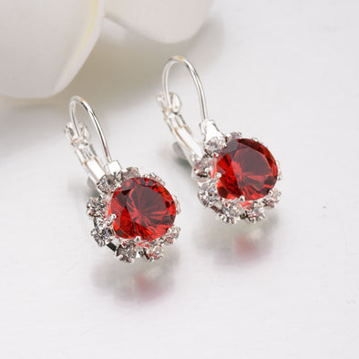 Rhinestone Drop Earrings - Glosence