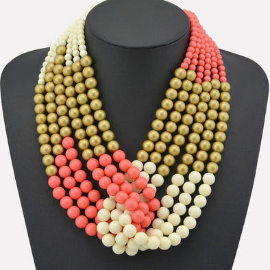 Wooden Bead Necklace - Glosence