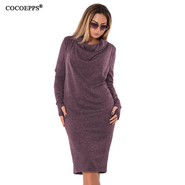Plus Size Winter Dress - Glosence