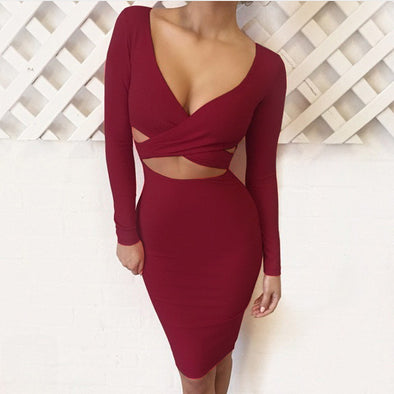 Sexy Criss-Cross Gown - Glosence