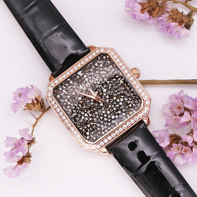 Women's Watch With Leather Straps - Glosence