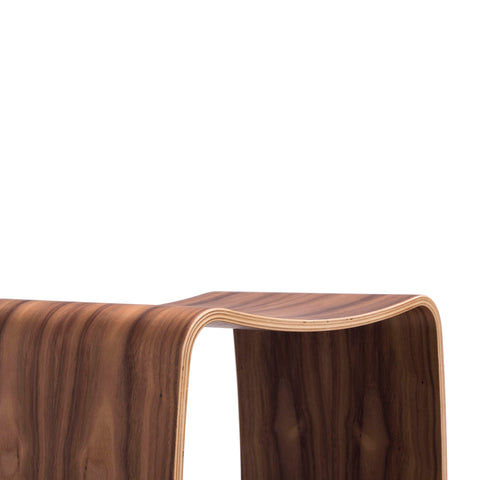 Bent Plywood Stool (curved seating)