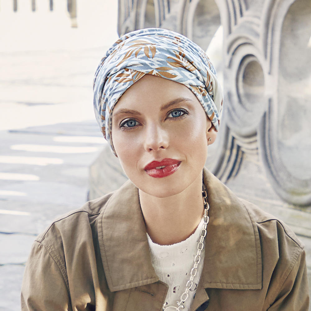 Christine SHAKTI Turban - IKAT BLUES