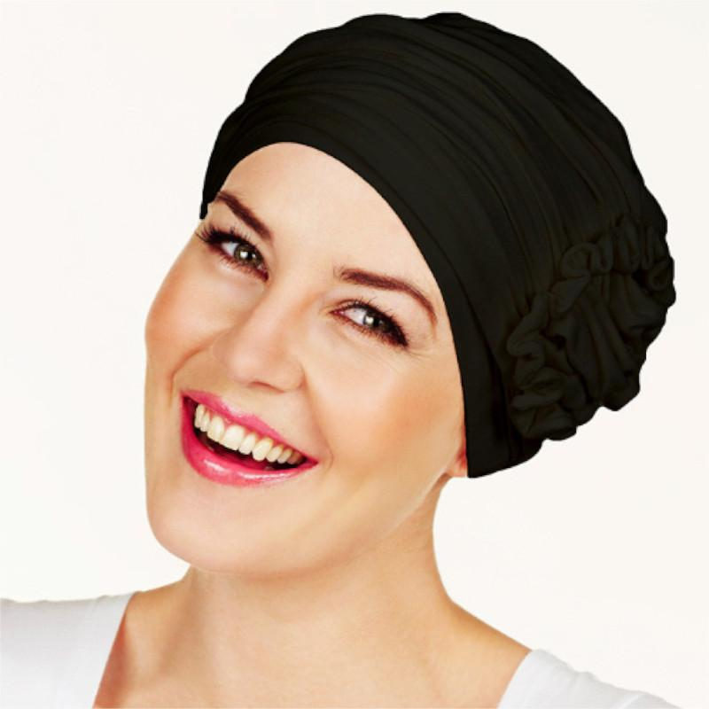 Christine - Lotus Turban - Black