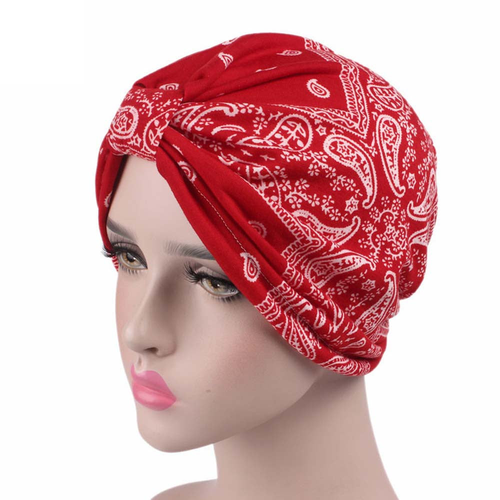 Darcy Bandana Style Cotton Slip On Turban Cancer hat by Chemo hats