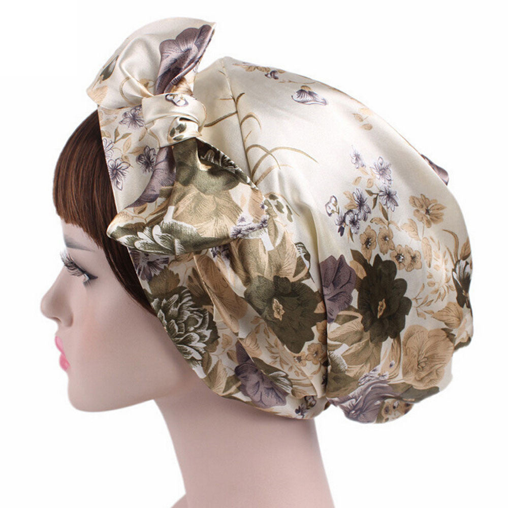 Billie Jean Rockabilly Style Soft Silky Satin Cancer hat by Chemo hats