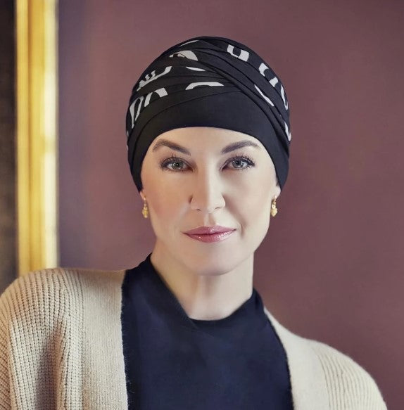 Christine - Shanti Turban - Black With Classic Bows