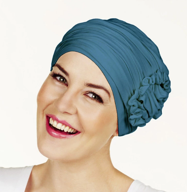 Rigon Christine Lotus Turban - Ocean Blue