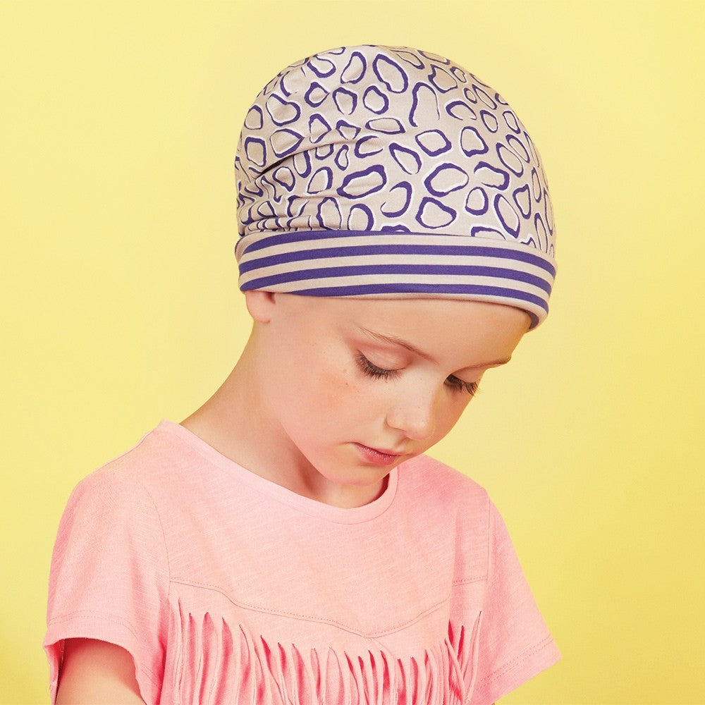 PETITE BUNNY STRIPED LEOPARD REVERSIBLE TURBAN CHRISTINE HEADWEAR COLLECTION 6-12 YEARS