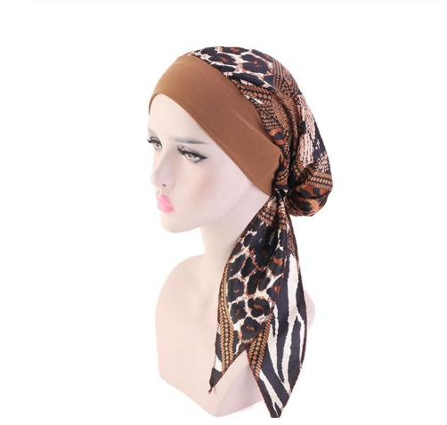 Animal Print Pre-Tied Head Scarf
