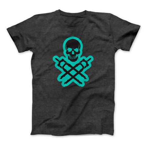 MENS DTR TEAL/CHARCOAL T-SHIRT