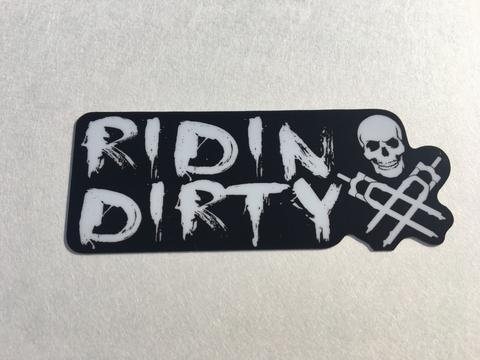 RIDIN DIRTY WHITE STICKER