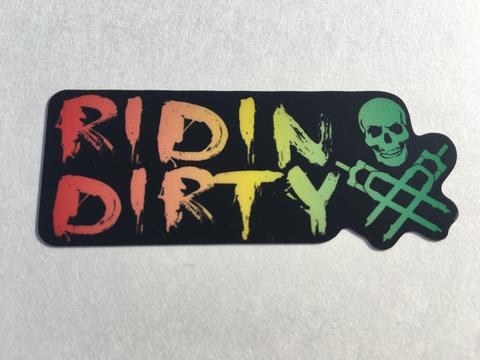 RIDIN DIRTY RASTA STICKER