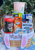 Easter Basket with Games and Snacks