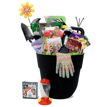 Rooster Basket of Flowers