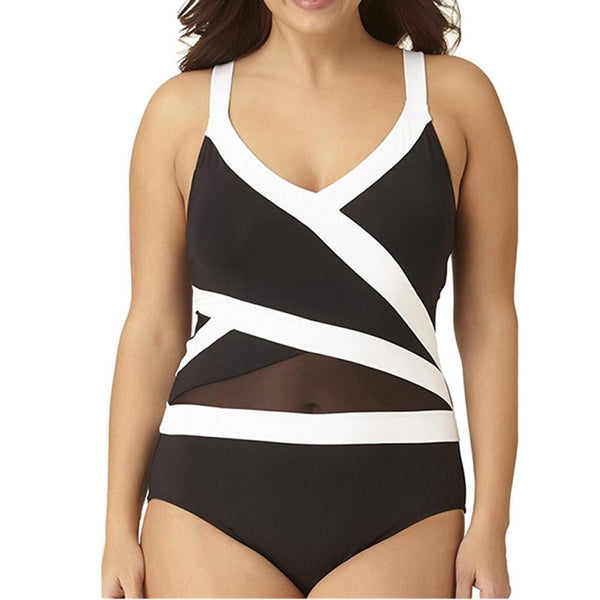 ed3a399b31 ... Black White Swimsuit Plus Size Bodysuit Size Armour Amour Free Shipping  Armouramour.com ...