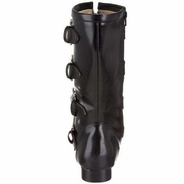 ed74772e9ec Demonia Brogue-107 Skull Metal Plated Black Boots Boots   Booties Demonia  Footwears Armour Amour