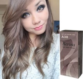 Marvelous Berina A38 Light Ash Blonde Permanent Hair Dye Armour Amour Free Shipping  Armouramour.com