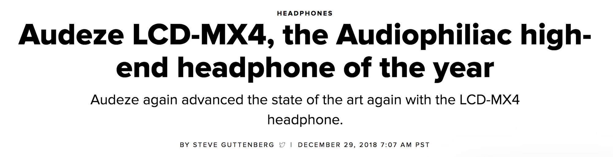 Audeze LCD-MX4 Review; Steve Guttenberg, CNET