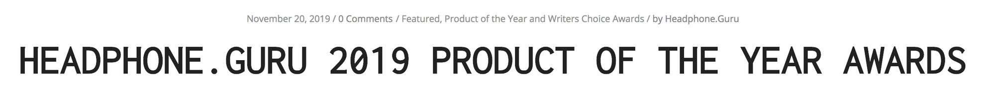 Headphone Guru gives the LCD-1 and LCD-GX their Product of the Year Awards!