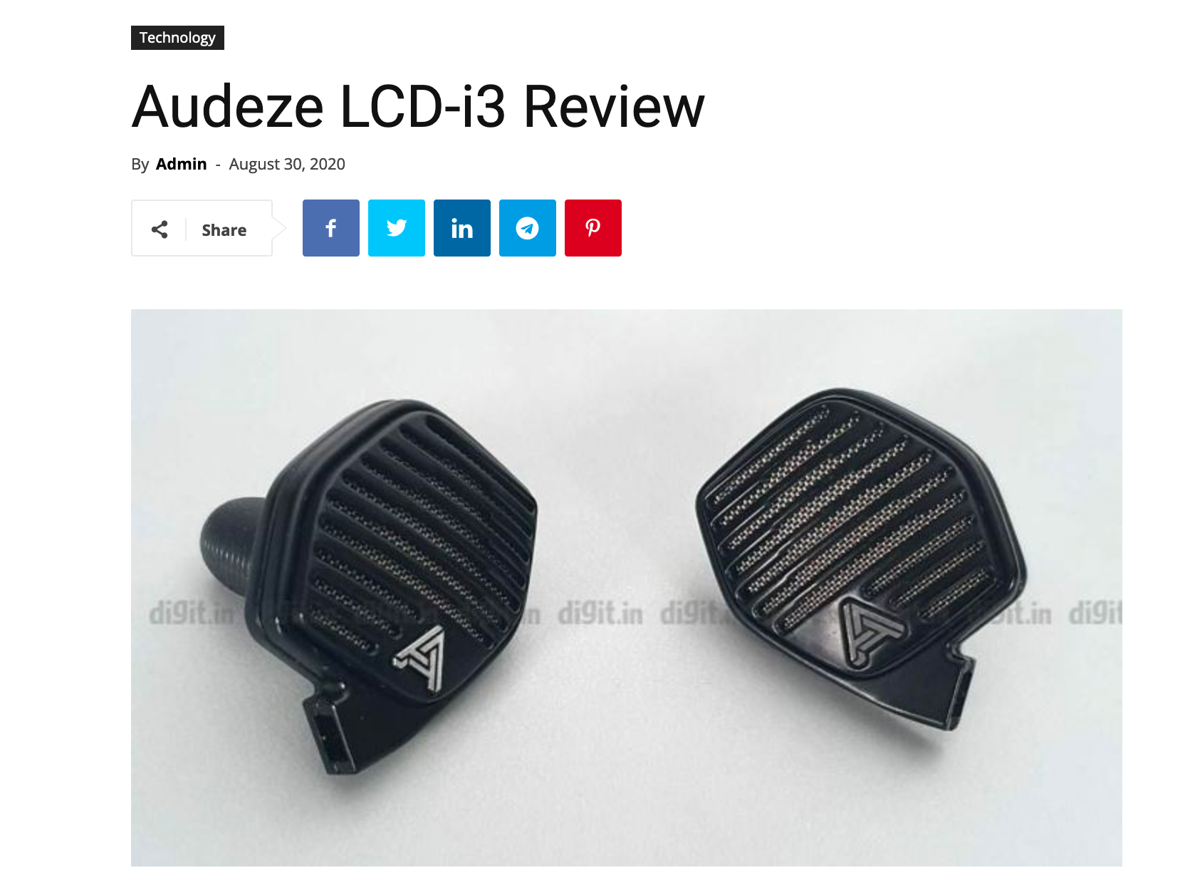 New World J Reviews the Audeze LCDi3