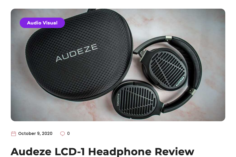 TechNuovo Reviews the Audeze LCD-1