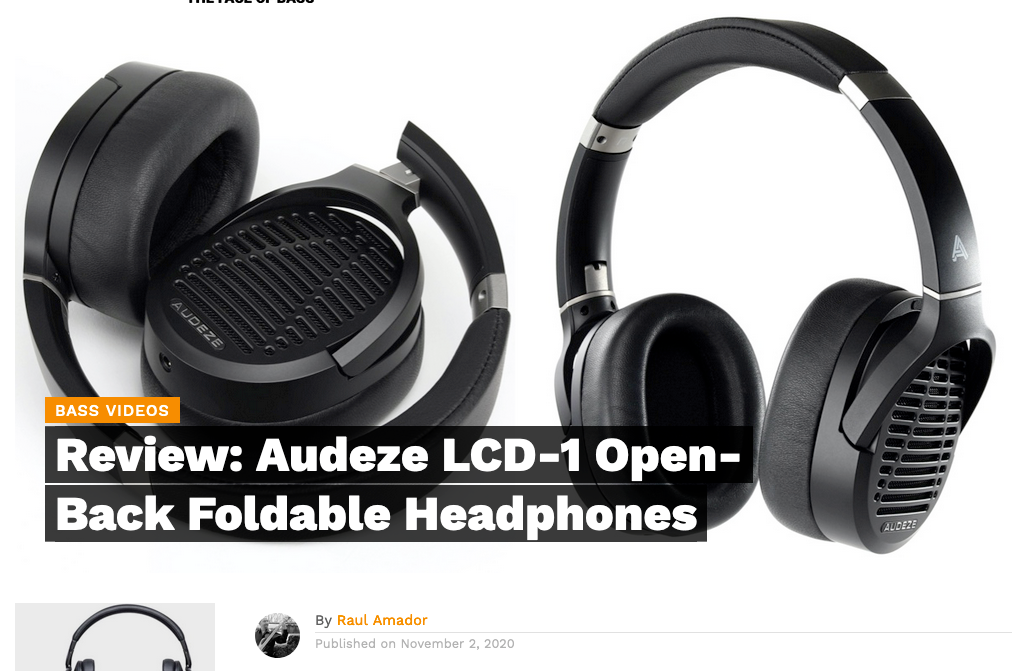 Bass Musician Mag Reviews the Audeze LCD-1