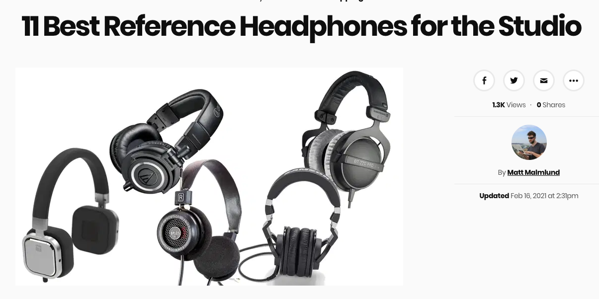 Audeze LCD-1 Featured in Heavy's Best Reference Headphones List