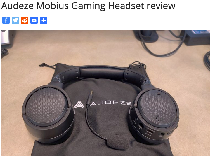 "Audeze Mobius Scores a Perfect 5/5 ""Atoms"" from Nerd Reactor"