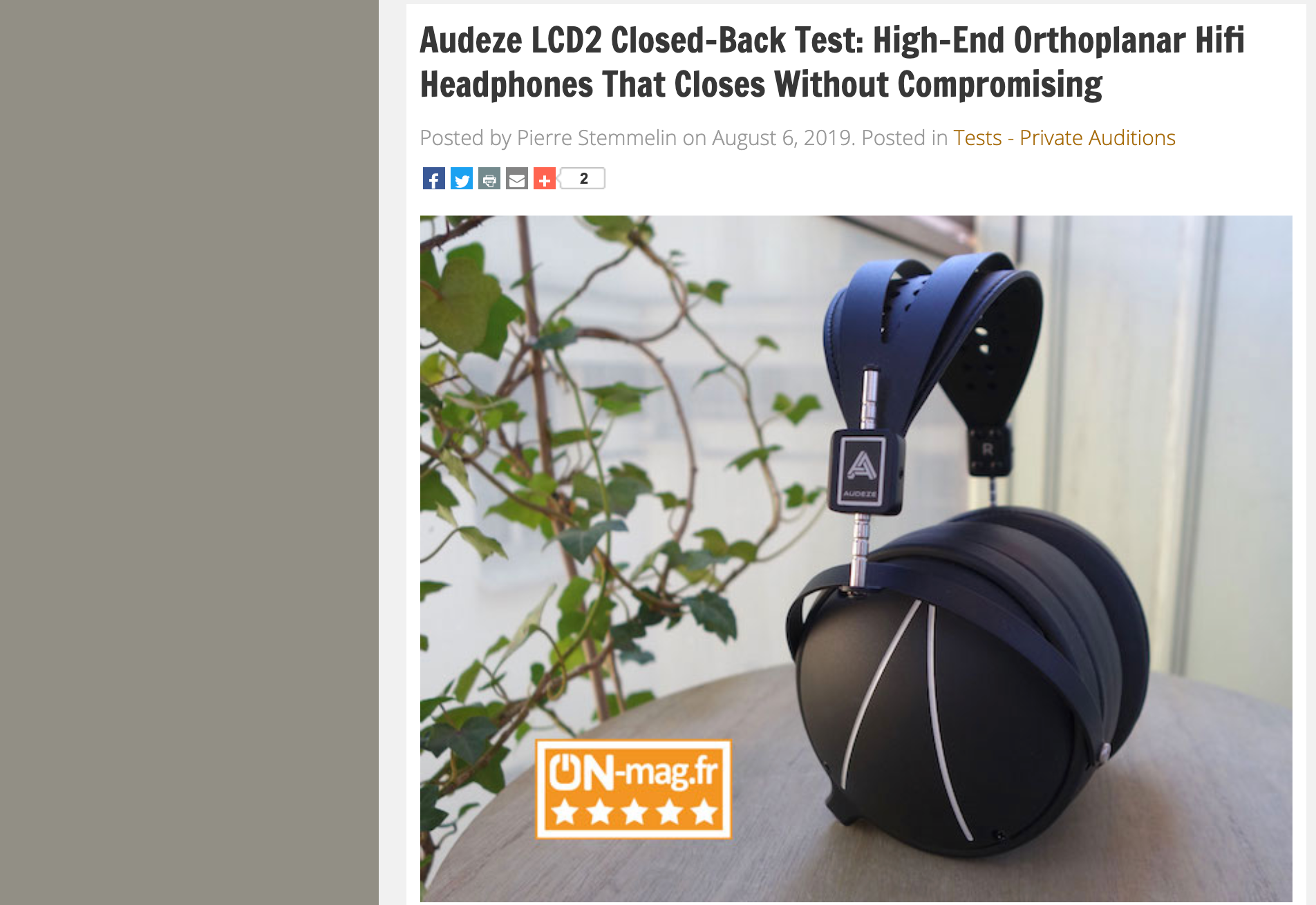 LCD2 Closed Back Review from France