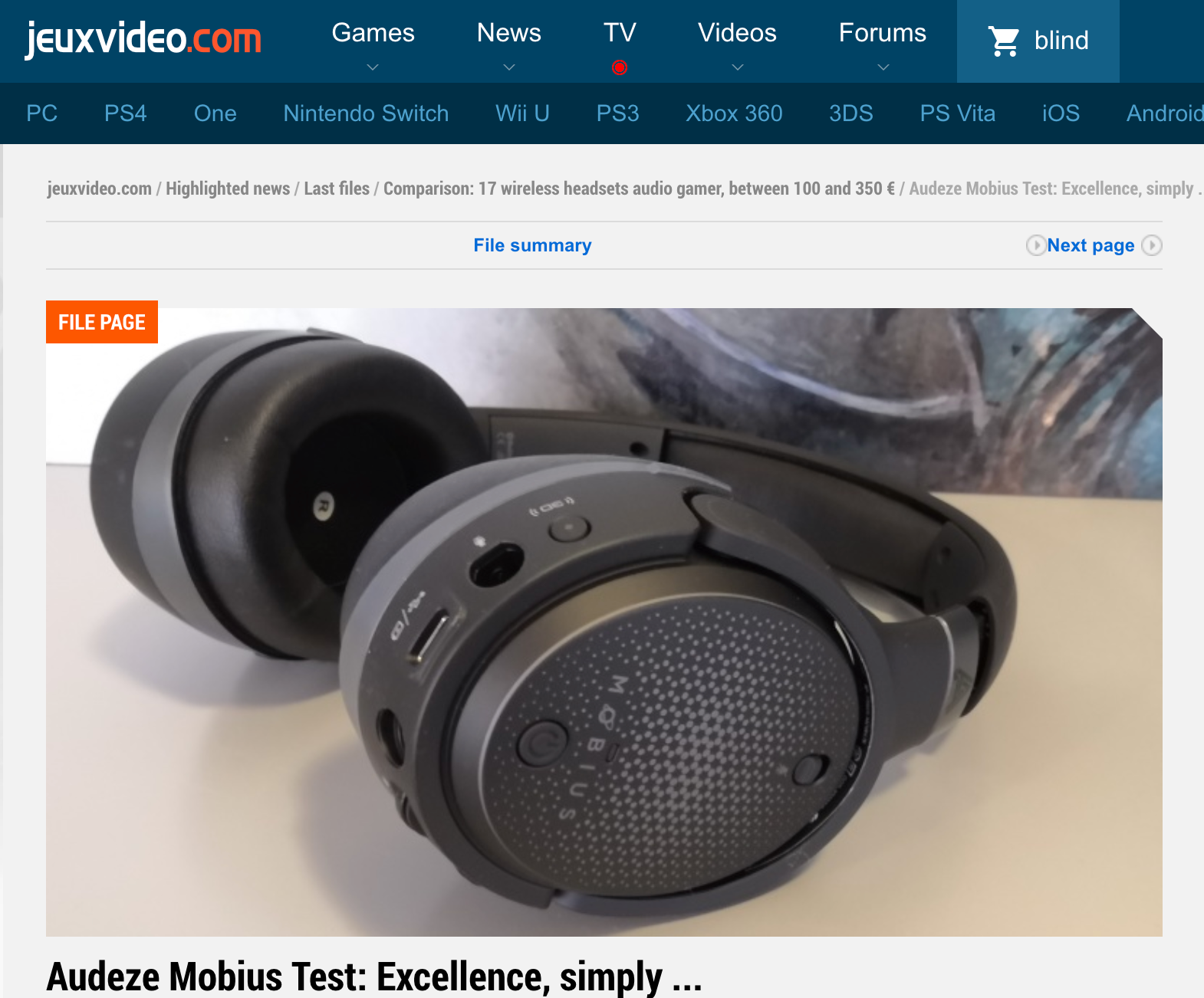 Jeuxvideo - L'excellence, tout simplement... Best headphone on the market today