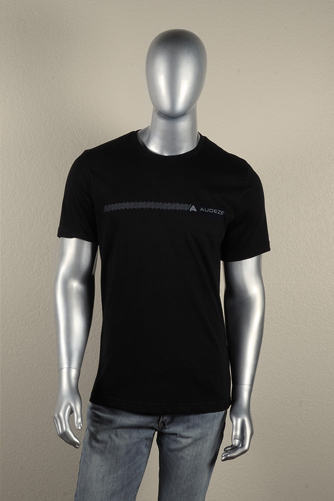 "Single Line ""A"" Pattern T-shirt with Audeze Logo"