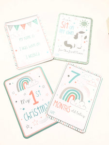 Unicorn Baby Milestone Cards