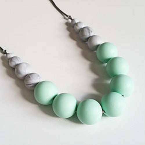 Mint & Grey Teething Necklace