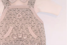Three Bears Grey Dungarees and Top Set