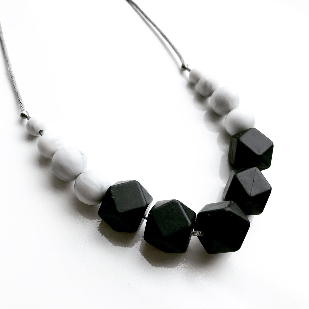 black teething necklace