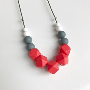 red teething necklace
