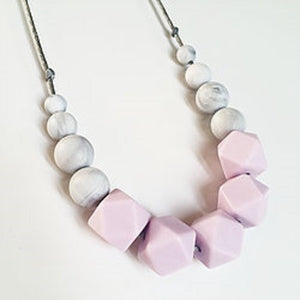 pale pink teething necklace