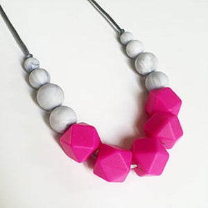 pink teething necklace