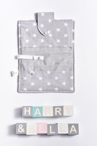 grey scandi nappy wallet
