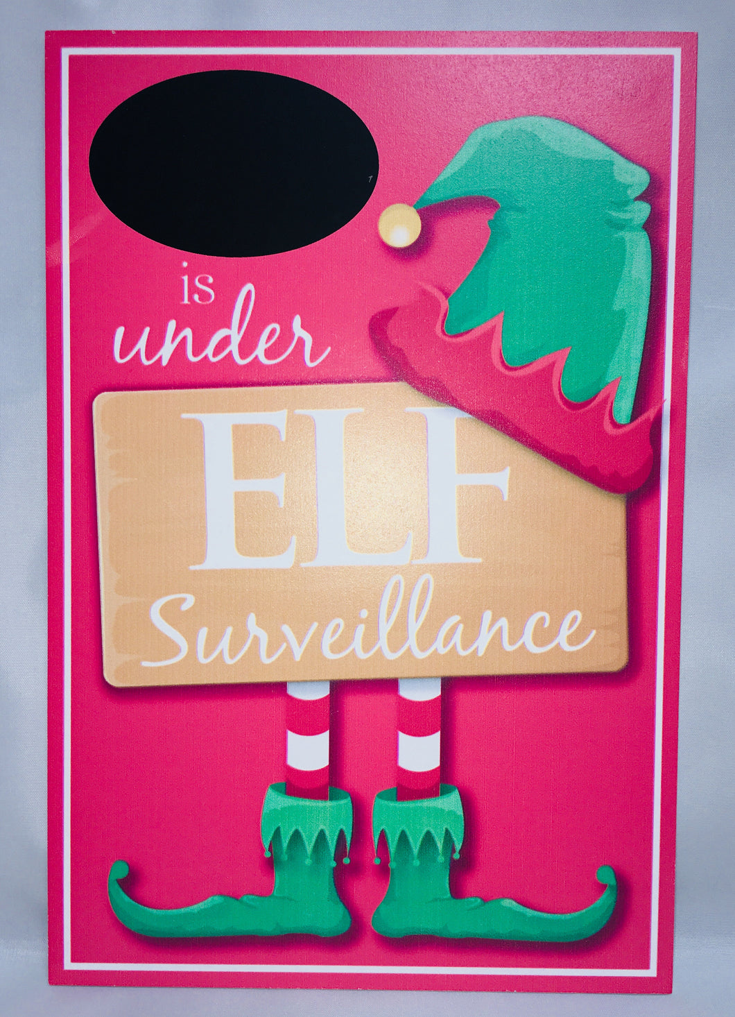 Christmas Elf Surveillance Sign-Can be personalised.