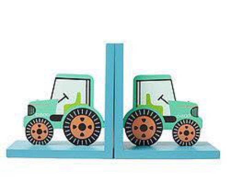 tractor nursery bookends